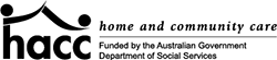 HACC - Home and Community Care - Funded by the Australian Government Department of Social Services