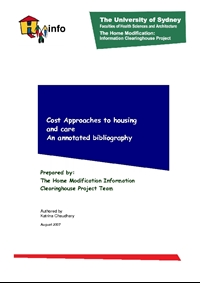 Cost Approaches to Housing and Care
