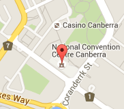 Map of national convention centre canberra