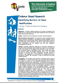 Identifying Barriers to Home Modifications, Systematic Review