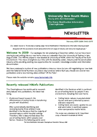 HMinfo Quarterly Newsletter - Edition 22 (February 2009)