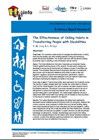 The Effectiveness of Ceiling Hoists in Transferring People with Disabilities - A systematic review