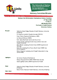 Advisory Committee Meeting Minutes - March 2008