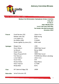 Advisory Committee Meeting Minutes - December 2011
