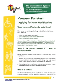 Applying for Home Modifications