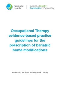 Occupational Therapy evidence-based practice guidelines for the prescription of bariatric home modifications