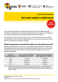 Thumbnail of 'Consumer Factsheet: Hot water safety in bathrooms' document