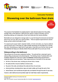 Thumbnail of 'Consumer Bulletin: Showering over the bathroom floor drain ' document
