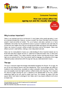 Consumer Factsheet: How can colour affect the ageing eye and the visually impaired?