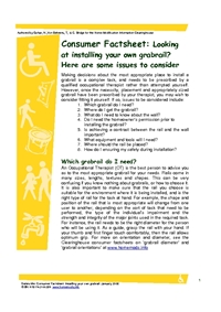 Thumbnail of 'Consumer Factsheet: Looking at installing your own grabrail? Here are some issues to consider.' document