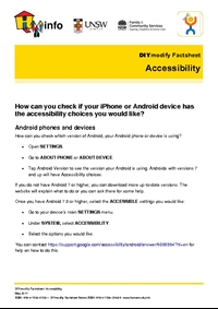 Thumbnail of 'DIYmodify Factsheet: Accessibility' document