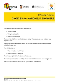 Thumbnail of 'DIYmodify Factsheet: CHOICES for HANDHELD SHOWERS' document