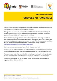 Thumbnail of 'DIYmodify Factsheet: CHOICES for HANDRAILS' document