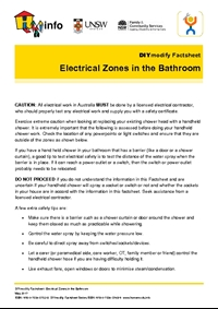 Thumbnail of 'DIYmodify Factsheet: Electrical zones in the bathroom' document