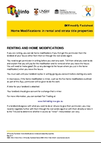 Thumbnail of 'DIYmodify Factsheet: Home Modifications in rental and strata title properties' document