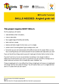 Thumbnail of 'DIYmodify Factsheet: SKILLS NEEDED: Angled grab rail' document