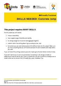 Thumbnail of 'DIYmodify Factsheet: SKILLS NEEDED: Concrete ramp' document