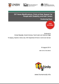 DIY Home Modifications: Point-of-Sale Support for People with Disability and their Carers Positioning Paper