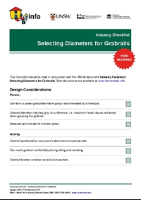 Industry Checklist: Selecting Diameters for Grabrails