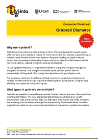 Thumbnail of 'Consumer Factsheet: Grabrail Diameter' document