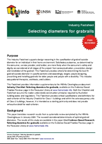 Industry Factsheet: Selecting Diameters for Grabrails