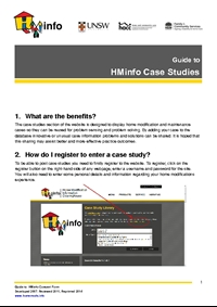 Guide to the HMinfo Casestudies