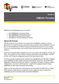Guide to HMinfo Forums