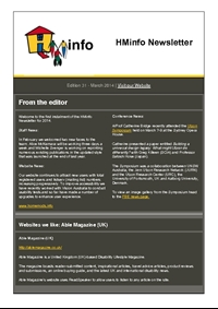 HMinfo Quarterly Newsletter - Edition 31. March 2014