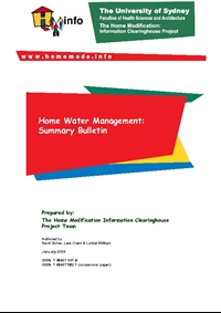 Summary Bulletin: Home Water Management