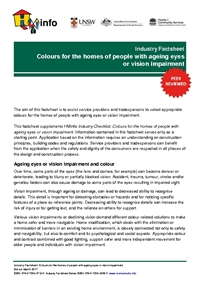 Industry Factsheet: Colours for the homes of people with ageing eyes or vision impairment