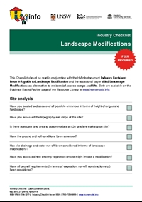 Industry Checklist: Landscape Modification