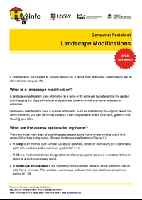 Thumbnail of 'Consumer Factsheet: Landscape Modifications' document