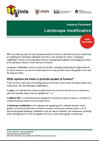 Industry Factsheet: Landscape Modification