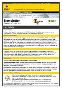 HMinfo Quarterly Newsletter - Edition 33. October 2014