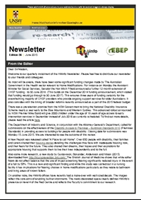 HMinfo Quarterly Newsletter - Edition 36. June 2015