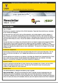 HMinfo Quarterly Newsletter - Edition 35. April 2015