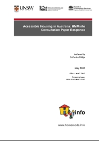Accessible Housing in Australia: HMMinfo Consultation Paper Response