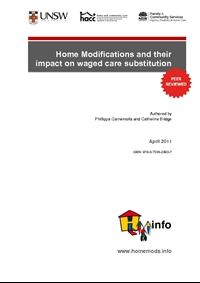 Home Modifications and Their Impact on Waged Care Substitution