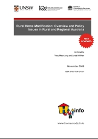 Rural Home Modification: Overview and Policy Issues in Rural and Regional Australia
