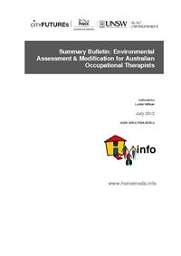 Summary Bulletin: Environmental Assessment & Modification for Australian Occupational Therapists