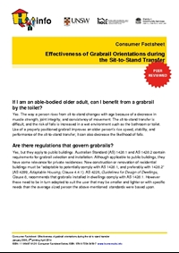 Thumbnail of 'Consumer Factsheet: Effectiveness of Grabrail Orientations During the Sit-to-Stand Transfer' document