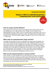 Thumbnail of 'Consumer Factsheet: Ramps or lifts for residential properties: comparing their costs and benefits' document