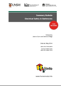 Summary Bulletin: Electrical Safety in Bathrooms 2nd ed.