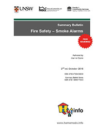 Summary Bulletin: Fire Safety - Smoke Alarms 2nd ed