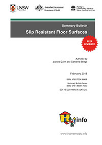Summary Bulletin: Slip Resistant Floor Surfaces