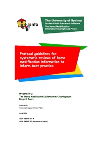 Protocol Guidelines for Systematic Reviews of Home Modification Information to Inform Best Practice