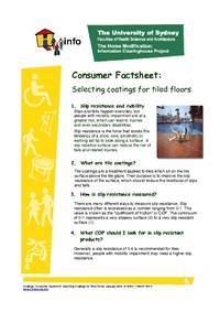 Thumbnail of 'Consumer Factsheet: - Selecting Coatings for Tiled Floors.' document