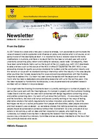 HMinfo Quarterly Newsletter - Edition 45. December 2017