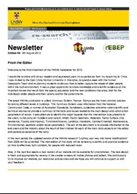 HMinfo Quarterly Newsletter - Edition 48. August 2018