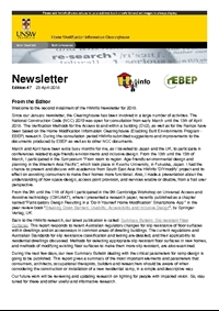 HMinfo Quarterly Newsletter - Edition 47. April 2018